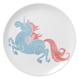 Unicorn Pegasus Melamine Plate