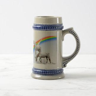 Unicorn & Pegasus rainbow Beer Stein