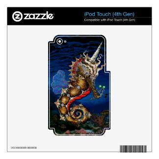Unicorn Pegasus Seahorse iPod Touch 4G Skins