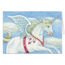 Unicorn Pegasus VALENTINE'S DAY CARD Customize