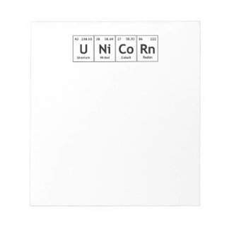 UNiCoRn Periodic Table Elements Word Chemistry Notepad