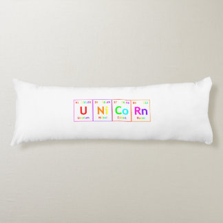UNiCoRn Periodic Table Elements Word Rainbow Color Body Pillow