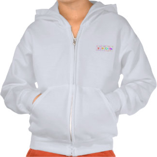 UNiCoRn Periodic Table Elements Word Rainbow Color Hooded Pullover