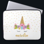 """Unicorn Personalized Laptop Sleeve 
