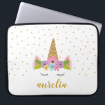"Unicorn Personalized Laptop Sleeve | Custom Color<br><div class=""desc"">Cute Unicorn Personalized Tote Bag.