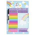Unicorn Personalized Reward Chore Potty Chart Dry Erase Board