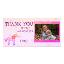 Unicorn Personalized Thank you Photo Card