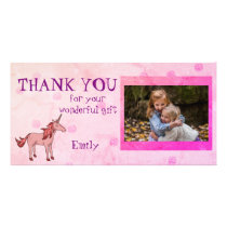 Unicorn Personalized Thank you Photo Card