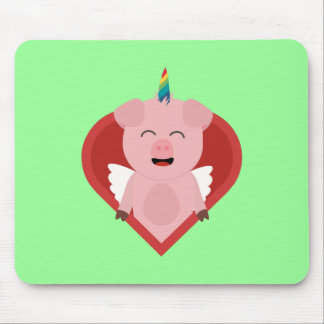 Unicorn Pig with Angelwings Z2h5i Mouse Pad