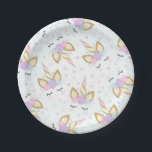"Unicorn Pink And Gold Paper Plate 7&quot; Paper Plates<br><div class=""desc"">Pink And Gold Rainbow Unicorn 7&quot; Paper Plate. The Glitter effect within this design is a digital image made to look like real glitter. High quality and still gorgeous, but no actual real glitter will be used in the making of this product. All designs are &#169; PIXEL PERFECTION PARTY LTD...</div>"