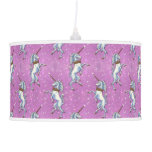Unicorn Pink Faux Glitter Hanging Lamps
