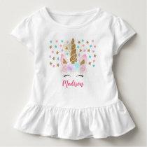 Unicorn Pink & Gold Magical Birthday Toddler T-shirt