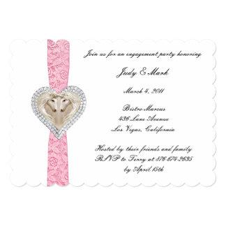 Unicorn Pink Lace Engagement Party Invitation