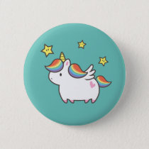Unicorn Pony Pinback Button