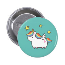 Unicorn Pony Pinback Button