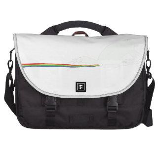 unicorn poo laptop messenger bag