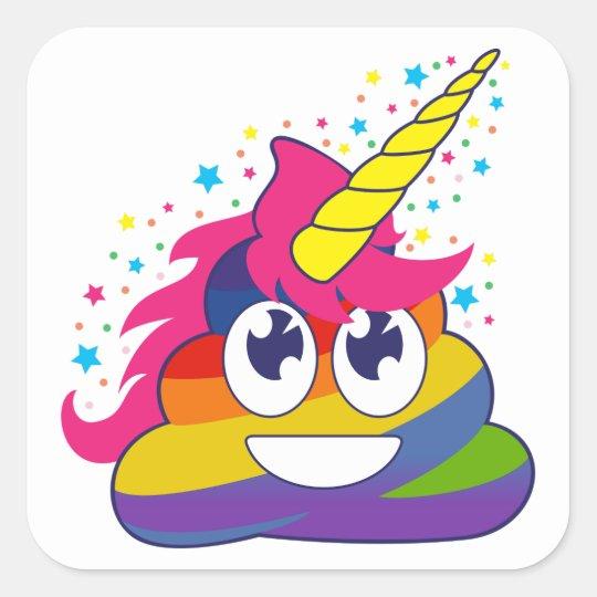 Unicorn Poop Rainbow Emoji Stickers