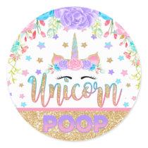 Unicorn Poop Sticker Unicorn Birthday Party Favor