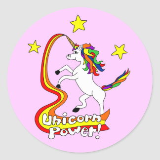 Unicorn Power! Classic Round Sticker