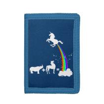 Unicorn power trifold wallet