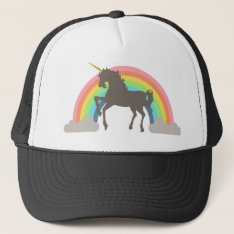 Unicorn Power Trucker Hat at Zazzle