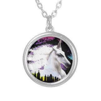 Unicorn pride silver plated necklace