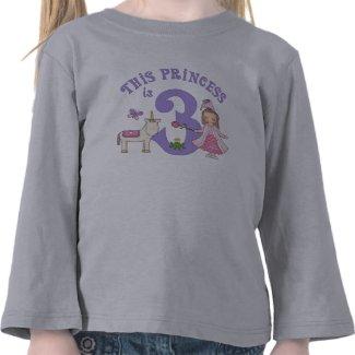 Unicorn Princess 3rd Birthday T Shirts