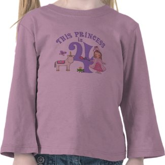 Unicorn Princess 4th Birthday T Shirt