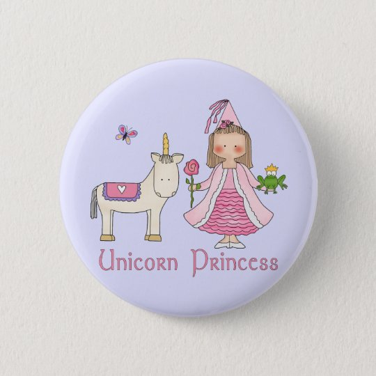 Unicorn Princess Button