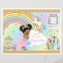 Unicorn Princess Castle Rainbow Baby Girl Chip Bag