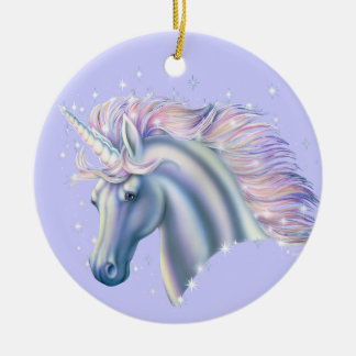 Unicorn Princess Ceramic Ornament