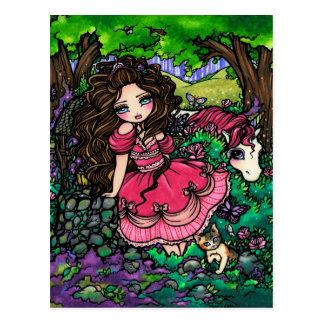 Unicorn Princess Fantasy Fairy Art Postcard