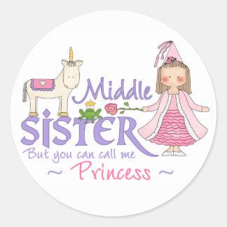 Unicorn Princess Middle Sister Classic Round Sticker
