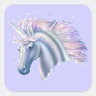 Unicorn Princess Square Sticker