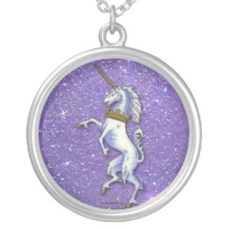 Unicorn Purple Glitter Pendant