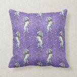 Unicorn Purple Glitter Pillows