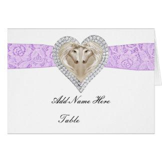 Unicorn Purple Lace Table Place Card