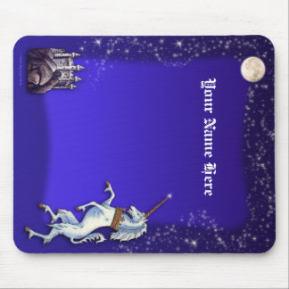 Unicorn Purple Night Border Mouse Pad