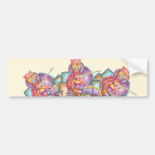 Unicorn Queens Bumper Sticker