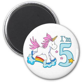 Unicorn Rainbow 5th Birthday Refrigerator Magnets