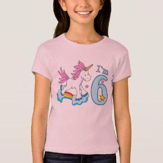 Unicorn Rainbow 6th Birthday T-Shirt