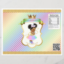 Unicorn Rainbow Afro Puffs Baby Girl Chip Bag