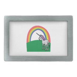Unicorn Rainbow Rectangular Belt Buckles
