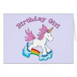 Unicorn Rainbow Birthday Girl Cards