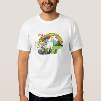 unicorn rainbow castle scene T-Shirt