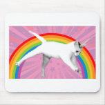 Unicorn Rainbow Cat Mouse Pad