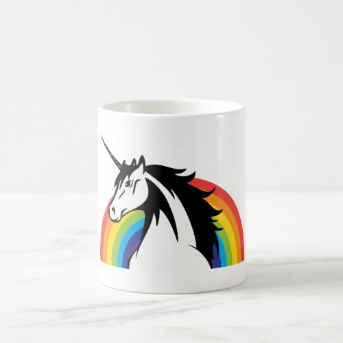 UNICORN RAINBOW CUSTOMIZABLE: ADD YOUR OWN PHRASE COFFEE MUG