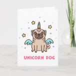 Unicorn Rainbow Dog Card