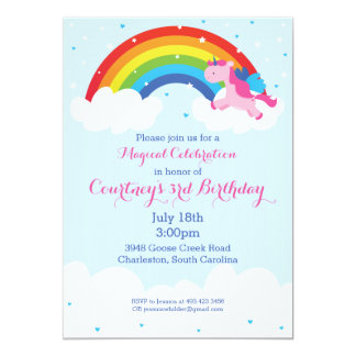 Unicorn Rainbow Invitation