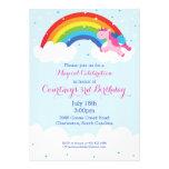 Unicorn Rainbow Invitation Custom Invites